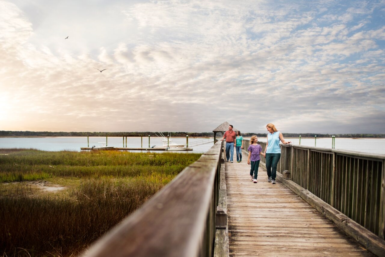 You can get around Daufuskie Island by bike or electric golf cart. The island is a nature-lover's dream. You can see bottlenose dolphins, loggerhead turtles, and Marsh Tacky horses, who've lived on the island for more than 500 years. / Image courtesy of Haig Point // Published: 6.24.20