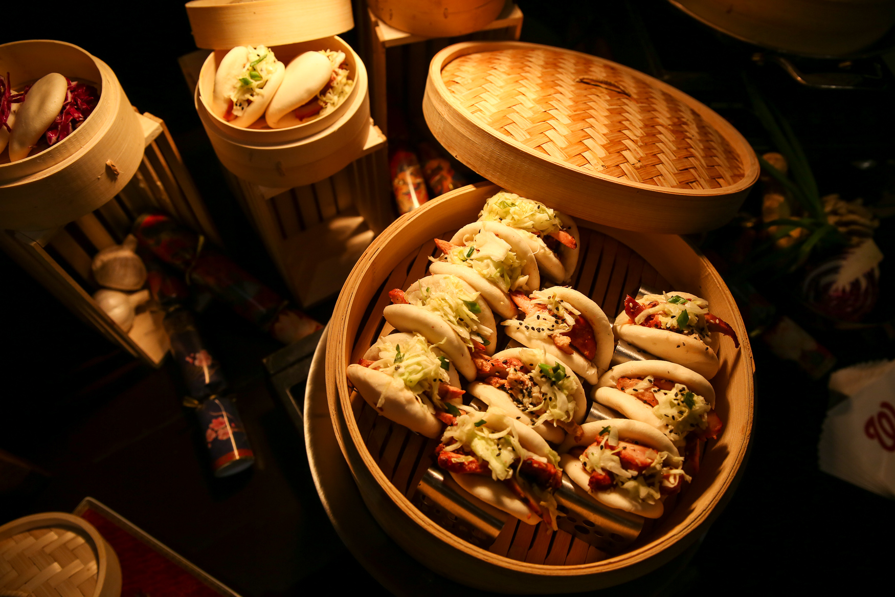 Bao Bao is another concept from the dining team at Nats Park and it features a variety of bao offerings, including vegetarian options. (Amanda Andrade-Rhoades/DC Refined)