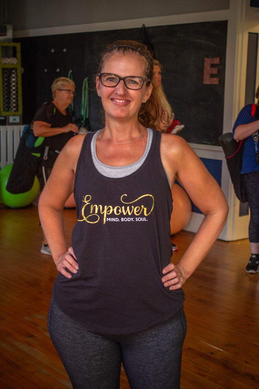 Stephanie, a class member at EmPower / Image: Katie Robinson, Cincinnati Refined // Published: 9.22.19