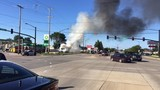 Van catches fire in Green Bay